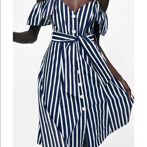 Zara Striped Button Up Dress